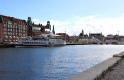 Vecchi casa e börshus postali in Malmö, Svezia Fotografie Stock Libere da Diritti