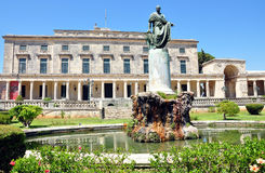 Vecchi castello e parco, la città di Corfù, Grecia, Europa, Fotografia Stock Libera da Diritti