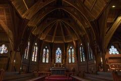 Vecchi chiesa di Saint Paul, coro ed altare interni, Wellington Fotografia Stock