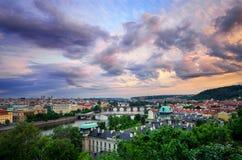 Vecchi città di Praga e ponte di Charles, Praga, repubblica Ceca Fotografia Stock