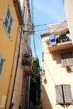 Vecchi colori della città di Antibes Fotografia Stock