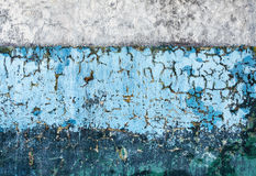 Vecchi colori differenti della parete due concreti Fotografie Stock Libere da Diritti