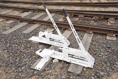 Vecchi commutatori manuali della ferrovia Fotografia Stock Libera da Diritti