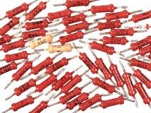 Vecchi componenti elettronici Fotografie Stock