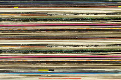 Vecchi coperchi record del cartone Fotografie Stock Libere da Diritti