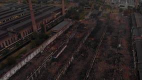 Vecchi detriti della fabbrica stock footage