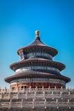 Vecchi dettagli cinesi del tetto del drago verde e blu Fotografia Stock