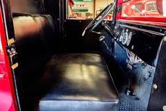 Vecchi dettagli classici del camion in museo Fotografie Stock Libere da Diritti