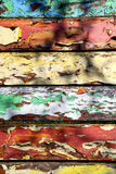 Vecchi di bordi colorati multi colorati della pittura Fotografia Stock Libera da Diritti