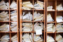 Vecchi documenti Immagini Stock Libere da Diritti