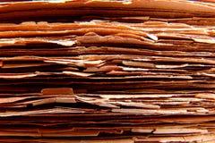 Vecchi documenti Immagini Stock