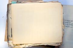 Vecchi documenti Fotografie Stock Libere da Diritti
