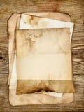 Vecchi documenti in bianco Fotografie Stock