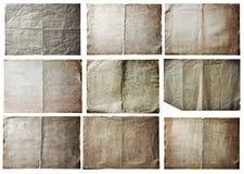 Vecchi documenti impostati Fotografia Stock