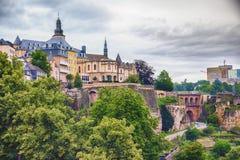 Vecchi edifici del Lussemburgo Fotografia Stock Libera da Diritti