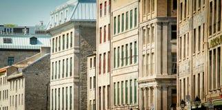 Vecchi edifici di Montreal Fotografie Stock Libere da Diritti