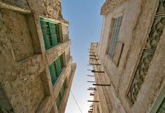 Vecchi edifici di Souq Waqif del mercato di Doha Fotografia Stock Libera da Diritti