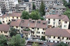 Vecchi edifici residenziali di Shanghai Immagini Stock Libere da Diritti