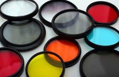 Vecchi filtri da grey e da colore Fotografie Stock Libere da Diritti