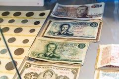 Vecchi franchi della banconota del Lussemburgo, duca Jean Fotografie Stock