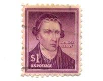 Vecchi francobolli dagli S.U.A. un dollaro Fotografie Stock Libere da Diritti