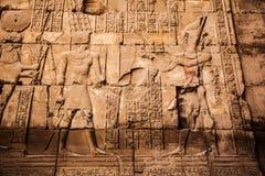 Vecchi geroglifici dell'egitto scolpiti Fotografie Stock Libere da Diritti