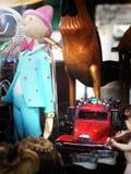 Vecchi giocattoli in Italia Fotografia Stock Libera da Diritti