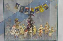 Vecchi giocattoli sovietici di Natale Fotografia Stock