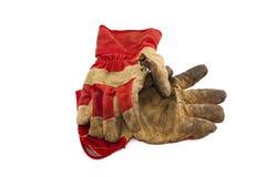 Vecchi guanti del lavoro Fotografia Stock Libera da Diritti