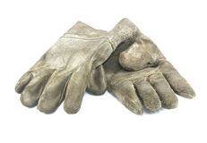Vecchi guanti del lavoro sporco Fotografia Stock