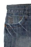 Vecchi jeans dell'annata Fotografia Stock