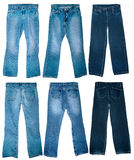 Vecchi jeans portati Fotografia Stock Libera da Diritti