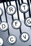 Vecchi keytops della macchina da scrivere Fotografia Stock Libera da Diritti