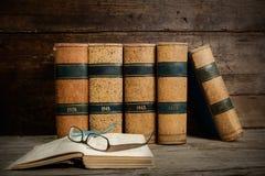 Vecchi libri Fotografie Stock