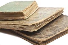 Vecchi libri antichi su bianco Fotografie Stock Libere da Diritti