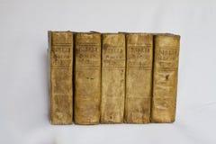 Vecchi libri - bibbie - su bianco Fotografia Stock Libera da Diritti