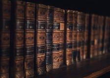Vecchi libri dell'annata Fotografia Stock