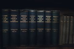 Vecchi libri dell'annata Immagine Stock