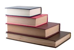 Vecchi libri della pila Immagine Stock Libera da Diritti