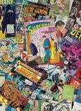 Vecchi libri di fumetti d'annata del fumetto Fotografie Stock