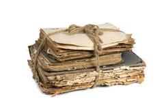 Vecchi libri e carte fotografia stock