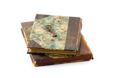 Vecchi libri e tasto Fotografie Stock
