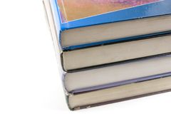 Vecchi libri impilati in su Fotografie Stock