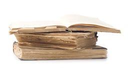 Vecchi libri isolati Fotografia Stock