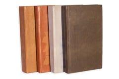 Vecchi libri isolati Fotografie Stock