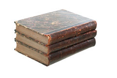 Vecchi libri isolati Fotografia Stock Libera da Diritti