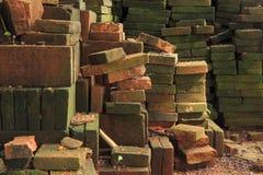 Vecchi mattoni rossi Fotografie Stock Libere da Diritti