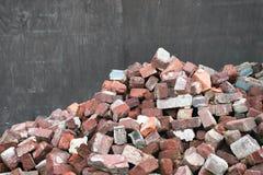 Vecchi mattoni usati Fotografia Stock Libera da Diritti