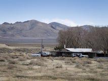 Vecchi motel e barra della strada principale Fotografia Stock Libera da Diritti