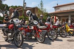 Vecchi motocicli di corsa Fotografie Stock Libere da Diritti